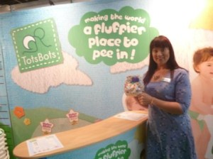 Tots Bots had their new Nursery Rhyme-themed nappies with them - so cute!