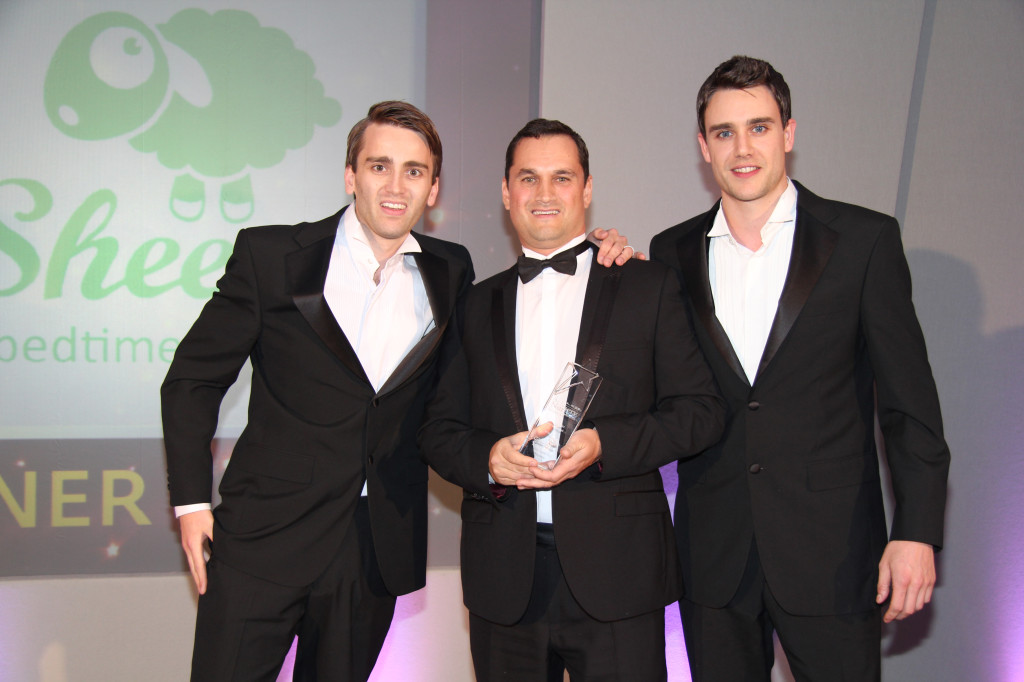 The boys at the Nursery Industry Awards where they won Best Organic Brand... a very proud moment!