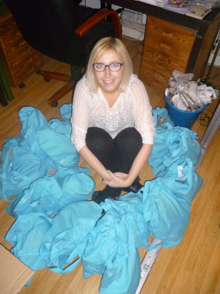 Week 2 Laura had arrived in the team – and we had to get ready for our birthday party! Party bags ahoy...