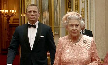 Daniel Craig and the Queen
