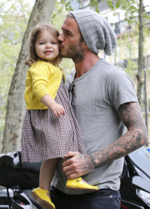 51086030 Soccer star David Beckham, his wife Victoria and their daughter Harper do some shopping in Paris, France on May 3, 2013. Perhaps they were out buying David a birthday present, as the PSG player turned 38 yesterday! FameFlynet, Inc - Beverly Hills, CA, USA - +1 (818) 307-4813 RESTRICTIONS APPLY: USA ONLY